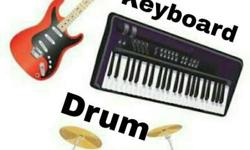 Learn guitar,drum and keyboard in easy method...with
