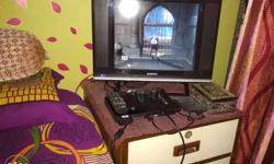 led TV brand new with ps2 500 GB HARDISK 80 GAMES etc