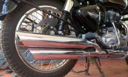 Less used royal Enfield double barrel silencer for sale