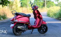less used vespa mat red 150sxl look like new