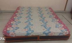White, Blue, And Pink Floral Bed Cover