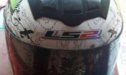 ls2 helmet gud condition visor small scratches