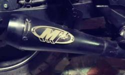 M4 exhaust, sounds like a real sports bike,loud and