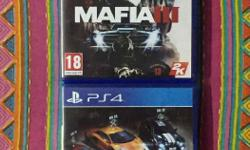 Mafia3 and The Crew PS4 for sale. Both discs in perfect