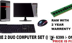 वार�र���� �� साथ core 2 Duo Computer Set with 2 Year