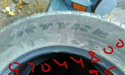Mahendra XUV Tyres set ( 4 ) 60% group without any