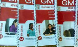 Manhattan GMAT Set of 10 Books in almost new Condition.