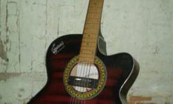 Maroon And Black Electric Guitar
