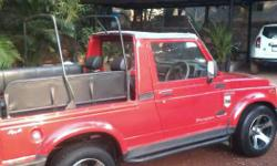 Maruti gypsy red color neat and clean with set of alloy