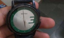 matrix watch with leather band