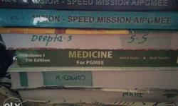 Medical Pg entrance standard books Unused . One year