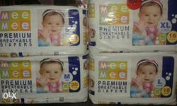 mee mee baby diapers 1 packed 180 rs only