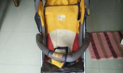 Very less used baby walker and stroller available for