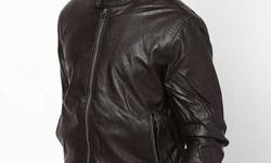 Turtel leather jacket brown colour