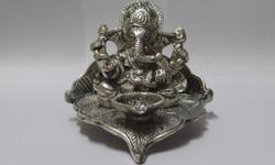 A stunningly beautiful Metallic statue ofShri. Ganeshon