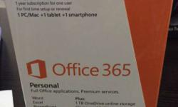 new microsoft OFFICE 365 personal ...(manufactured