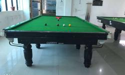 Mini snooker table used green marble base wiraka 777