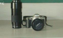 Minolta Dynax 505si SLR Camera With Extra lens 75-300