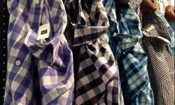 50 pieces mixed branded shirts in mixed size majority