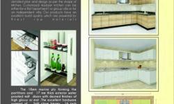 Modular kitchen. Marain playwood with laminated