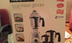 Branded mixer grinder only 3 months old bought for 6000