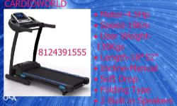 MOTORISED TREADMILL-Heavy Duty With 120Kg User Weight