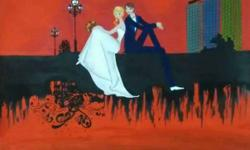 Multicolored Painting Of Man And Woman In Wedding Dress