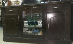Multiuse Cabinet with Drawer and glass top. using for