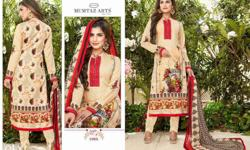 mumtaz vol1 pure cotton satin with embrodry amd print