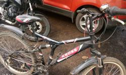 My new bike with disc brake 18 gear dual suspension and
