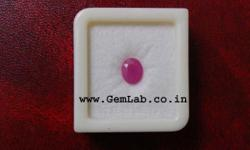 Ruby also known as Manik is pinkish Red in color. This