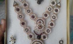 Artificial Bridal jewellery includes two necklace, ear