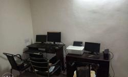 Office Material i.e. 3 Computers(PC), 3 Chairs & 2