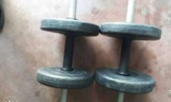 Two Grey Dumbbells