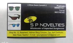 All types of imported Sunglasses wholesaler & retailer