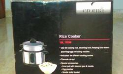 New rice cooker branded croma seal boxs it can be made