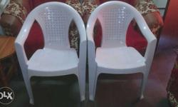 New Two White Plastic chair
