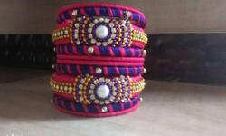 new unused silk thread bangle