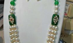 New white and green moti royle style har