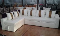 attractive colour and design L shape sofa with cushion