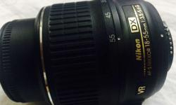Nikon 18-55 AF-S DX Nikkor lens in mint condition.