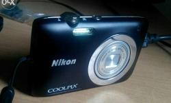 coolpix 2600,14 mp,hd video recording,case,4gb card,no
