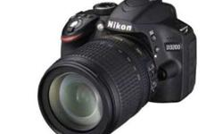 o Brand new Nikon D3200 (Body with AF-S 18-105 mm VR