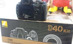 nikon d40 good condition battery charger box all