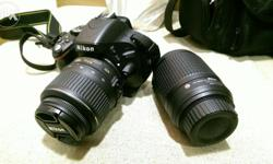 1 year old Nikon D5100 with default 18mm to 55mm lens -