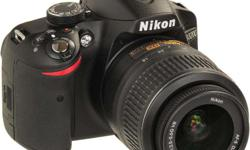 Nikon D 3200, Perfect condition, 24.1 Mp, 18-55 Nikkor