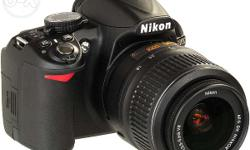 NIKON D3100 3 years old but occasionally used.The