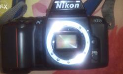 Nikon SLR n6006 in good condition but no lens with it .