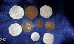 Nine Assorted Coins