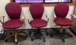 office chair 8 set urgent sell 1 chair =8000rs